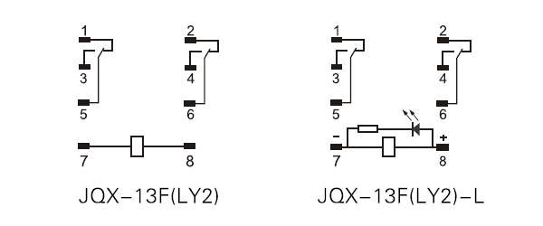 general purpose relay ly2 wiring diagram general purpose relay jqx 13f, ly1, ly2, ly3, ly4 jqx-13f wiring diagram at highcare.asia