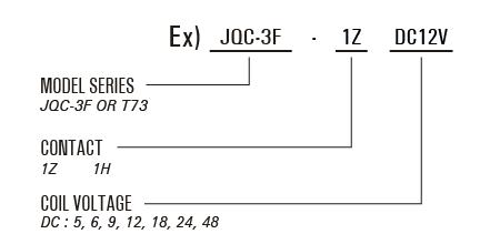 PCB Relay - JQC-3F(T73)